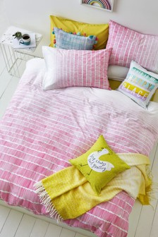 Ombre Lines Duvet Cover and Pillowcase Set