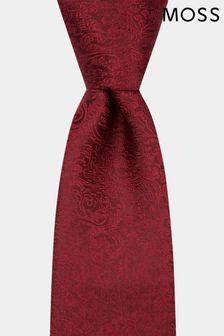 Moss 1851 Wine Floral Swirl Tie