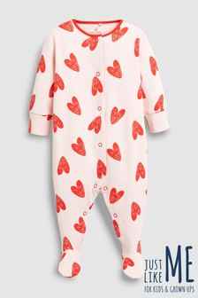 Love Heart Sleepsuit (0mths-2yrs)