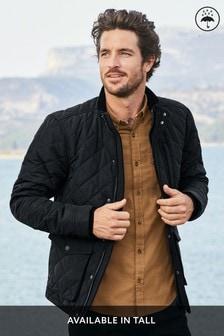 Shower Resistant Diamond Quilt Jacket