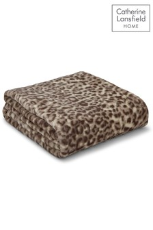Catherine Lansfield Leopard Animal Print Throw