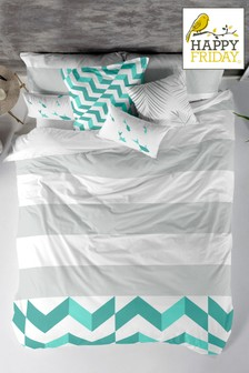 Happy Friday Exclusive To Next Zig Zag Duvet Cover and Pillowcase Set