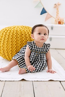 Gingham Smock Dress And Knickers Set (0mths-2yrs)