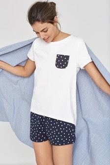 Cotton Blend Pyjama Short Set c21a6a904