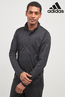 adidas Gym 1/4 Zip Black Training Top