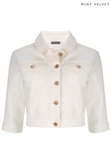 Mint Velvet Cream Denim Western Jacket