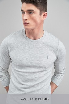 Long Sleeve Textured Crew