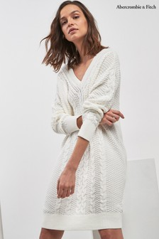 Abercrombie & Fitch Grey Cable Knit Dress