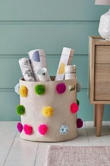 Bright Pom Storage Basket