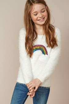 Fluffy Sequin Jumper (3-16yrs)