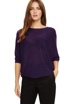 Phase Eight Purple Shimmer Becca Batwing Jumper