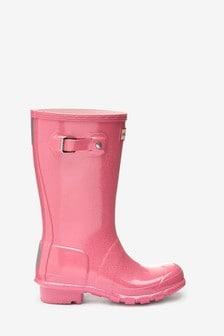 Hunter Pink Glitter Original Welly