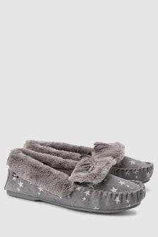 Premium Suede Moccasin Slippers