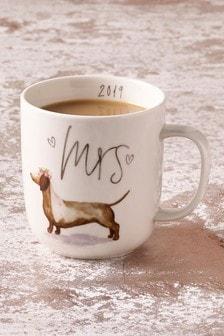 Est. In 2019 Dachshund Mrs Mug