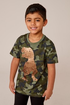 Sequin Dinosaur T-Shirt (3-14yrs)