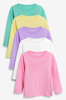 Bright Long Sleeve T-Shirts Five Pack (3mths-7yrs)