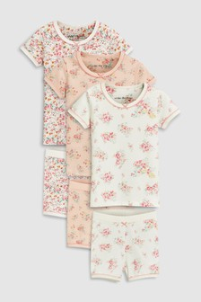 Floral Snuggle Shorts Three Pack (9mths-8yrs)