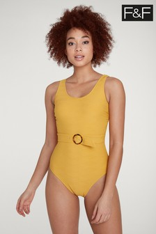 F&F Yellow Belted Swimsuit