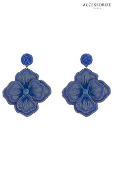 Accessorize Embroidered Flower Earrings