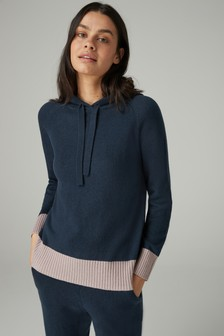Knitted Hoody With Cashmere