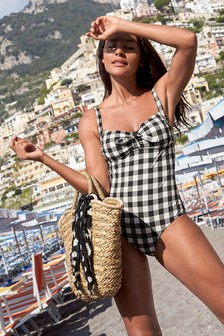 Mono Gingham Swimsuit