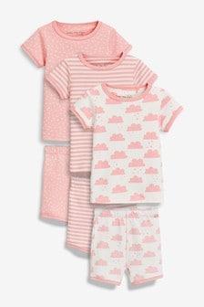Cloud Snuggle Short Pyjamas Three Pack (9mths-8yrs)