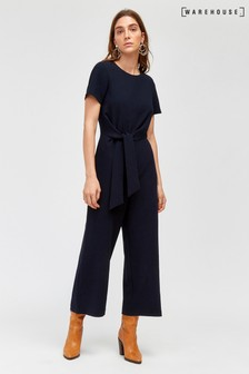 b4535c857858 Warehouse Blue Side Knot Jumpsuit