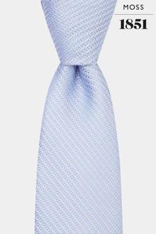 Moss 1851 Sky Knit Texture Tie