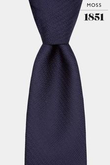 Moss 1851 Navy Knit Texture Tie