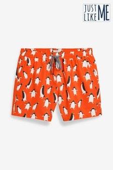 Penguin Print Swim Shorts