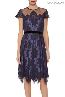 Gina Bacconi Blue Wendi Lace Dress