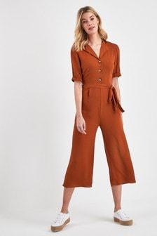 Culotte Button Jumpsuit