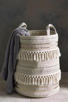 Tasselled Sequin Laundry Bag