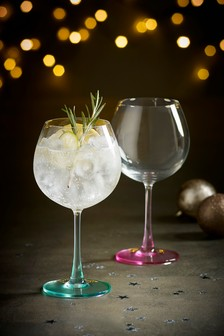 Set of 2 Pastel Gin Glasses