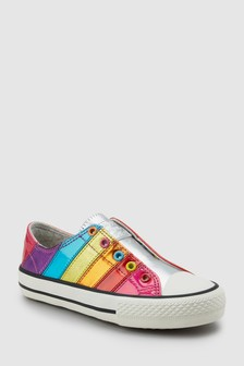 Stripe Laceless Trainers (Older)