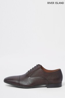 River Island Brown Leather Lace-Up Shoe