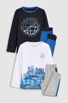 Glitch Print Pyjamas Two Pack (3-16yrs)