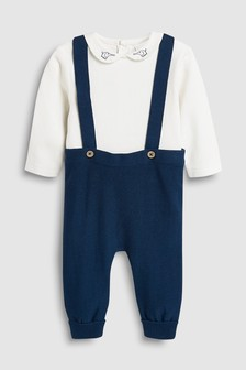 Knitted Dungarees And Bodysuit Set (0mths-2yrs)