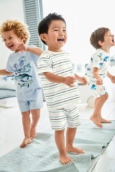 Ocean Print Pyjamas Three Pack (9mths-8yrs)