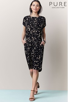 Pure Collection Silk Front Print Dress