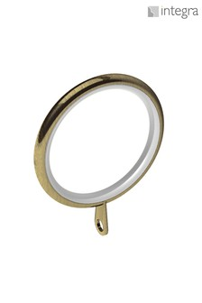 6 Pack Integra Antique Brass 28mm Curtain Rings