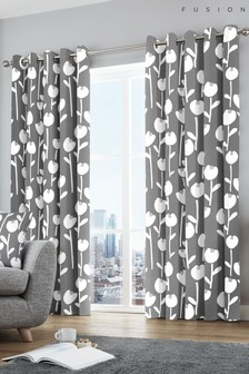 Fusion Alabar Eyelet Curtains