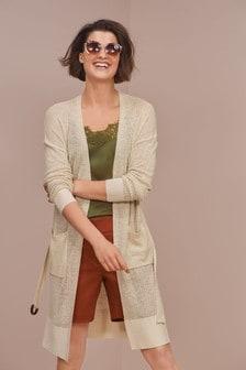 Longline Linen Blend Cardigan