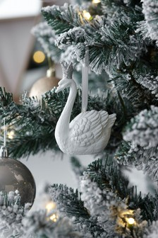Swan With Crown Hanging Decoration