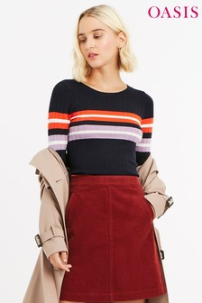 Oasis Multi Jemima Stripe Knit Jumper