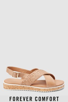 Forever Comfort® Leather Cork Covered Wedges