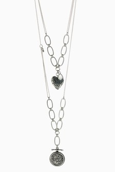Two Layer Heart Necklace