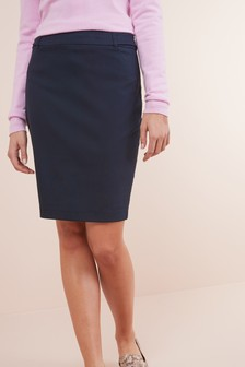 Tailored Above Knee Pencil Skirt