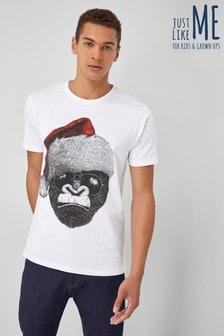 Mens Gorilla Santa T-Shirt
