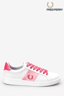 Fred Perry White Tie Dye Trainers